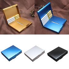 Multicolor Aluminum Metal Cigar Pocket Cigarette Box Holder Tobacco Storage Case