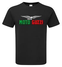Retro Moto GUZZI Bandera Colores de motociclista Premium T-shirt. Calidad de impresión.