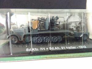 Amer Collectors Model. Sd. Kfz. 7/1 + Sd. Ah. 51 trailer-1942. Veh and trailer.