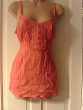 ORANGE  STRAPPY TOP, SIZE 14