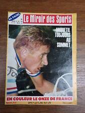 LE MIROIR DES SPORTS 1966 Nr 1151 ANQUETIL Poster Equipe de France de Football