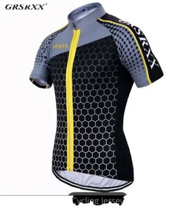 Cycling jersey: Yellow, Size (Large) For Road Bikes, Mountain Bikes, Trail Bikes