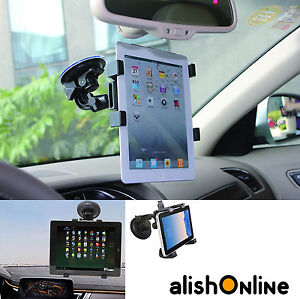 """360 Rotate Windscreen Car Suction Mount Holder 6"""" To 11"""" for Tablet and iPad"""