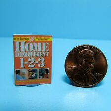 Dollhouse Miniature Replica of Book Home Depot Home Improvements 1-2-3 B083