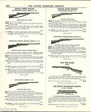 1939 ADVERT Daisy Double Barrel Pop Gun 2 Power Telescope Sight