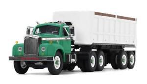 2018 First Gear 1:64 *GREEN* MACK B-61 Semi Truck w/22' DUMP TRAILER *NIB*