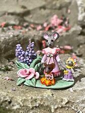 Vintage Miniature Dollhouse Artisan Carolyn Rohal Clay Woodland Figurines c2007