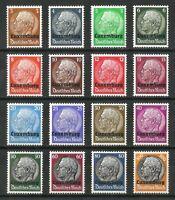 DR Nazi 3rd Reich Rare WW2 Stamp Hindenburg Medalion Overprint LUXEMBURG FullSet
