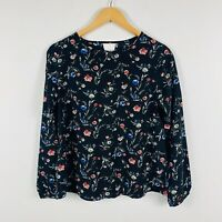 Pepe Jeans London Womens Shirt Top Size Small (8-10) Floral Long Sleeve