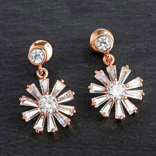 Dangly Flower Rose Gold Earrings from Equilibrium