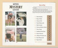 ADVERTISING  -  GUINNESS   MYSTERY  GENIUS  FOLDING  CARD  (B)
