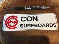 Vintage CON Surfboards/surf surfing sticker Santa Monica Venice Dog Town Knoll