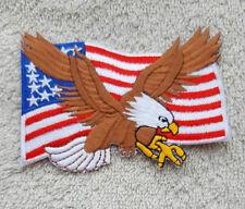 USA BALD EAGLE FLAG PATCH Cloth Badge/Emblem/Insignia Biker Jacket Bag Iron Sew
