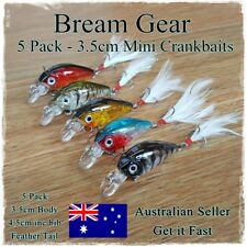 5 Bream & Trout Fishing Lures Yellowbelly Redfin Flathead Salmon Whiting 3.5cm