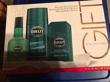 Brut Gift Collection: Deodorant/Shave Cream/Slash On After Shave