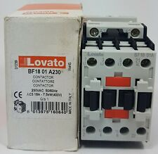 Lovato Electric BF18 01 A230 Contactor 18A 18 Amp 7.5KW 230VAC 50/60Hz Ac3 400V