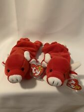 Snort and Tabasco Vintage Rare TY beanie babiesBulls MINT CONDITION Ships Free!