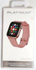 Platinum - Leather Band for Apple Watch 38mm/40mm - Pink