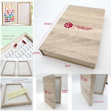180 Colors Display Book Nail Polish Color Chart Tips Included Faux Wood Timber