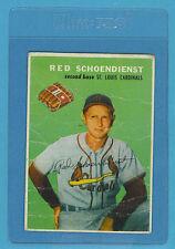 1954 Wilson Franks Vintage Card - Red Schoendienst St Louis Cardinals (Fair)