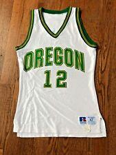 Vintage 1980s Oregon Ducks Game Used Basketball Jersey Worn #12 Ulysses Foston