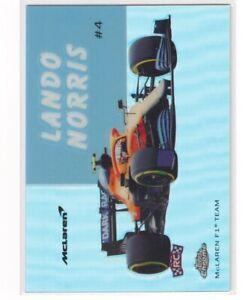 Lando Norris Rookie World on Wheels 2020 Topps Chrome Formula One 1 F1 #54W-6 RC
