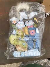 Vintage Home Interior Bunny Couple Metal Candle Holder