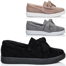 Para Mujeres Arco De Plataforma Mocasín Zapatos Planos