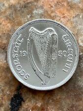IRELAND EXCELLENT 1930 HALF CROWN  75% SILVER