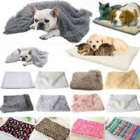 Dog Cat Mattress Small Medium Large Blanket Warm Pet Soft Bed Mat Pillow Cushion
