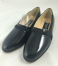 Frederico Leone Men's Black Slip Ons Formal Patent Leather Shoes Size 8.5 (3936)