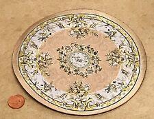 1:12 Scale 17cm Diameter Cream Circular Rug Dolls House Miniature Carpet 6837