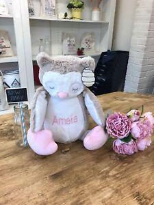 Personalised Sleepy Owl Soft Toy - Amelia Design