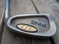 Ping i 3 O Size Green Dot Single 1 Iron Golf Club Right Hand Steel Shaft No Grip