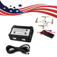 US Daul 2 Ports Balance Charger for Hubsan H501S Drone 600mA 7.4V  Li-po Battery