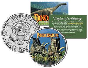 PENTACERATOPS * Collectible Dinosaur * JFK Kennedy Half Dollar US Colorized Coin