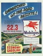 1953 MOBIL OIL MOBILGAS MOTOR OIL A3 POSTER AD SOCONY - VACUUM