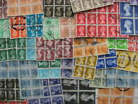 Great Britain Machins, group of 36 used blocks of 4 or more, check them out!