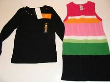 Gymboree Cheery All The Way Girls Size 5 Black Rhinestone Top Sweater Dress NWT