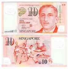 SINGAPORE 10 DOLLARS 2004 POLYMER NO SYMBOL UNC P 48 a