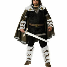 Mens Super Deluxe Viking Warrior Costume Soldier  Fancy Dress Small Medium n4881