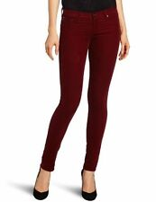 NWT $168 Adriano Goldschmied AG Jeans The Legging velvet corduroy in Garnet 24