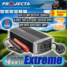 PROJECTA IC1500 15A 15 AMP AC BATTERY CHARGER 7 STAGE 12 VOLT 12V NEW CHARGING