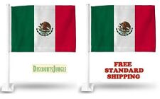 """2X MEXICO MEXICAN World Cup Soccer Car Flag FLAGS FOR CAR WINDOW 18"""" X 12"""" INCH"""