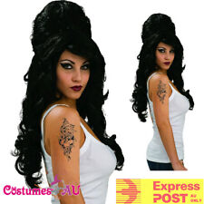 Ladies Rehab Amy Winehouse Wig Black 60s 1960s Wigs Womens Costume Accessories