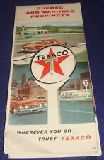 BR447 Vtg Texaco Quebec QC & Maritime Provinces Road Map 1961
