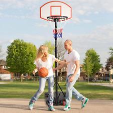 Portable Basketball Hoop Goal Backboard Adjustable Kid Youth Adult Outdoor Stand