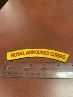 Royal Armoured Corps UK British Commonwealth Felt Uniform Patch FREE SHIPPING