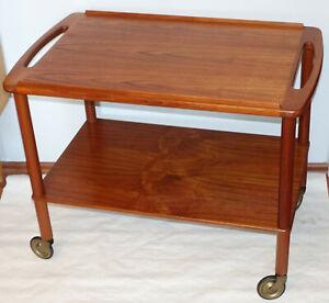 Schicker Vintage Teak Servierwagen Barwagen Beistelltisch Bowa Danish Design 60s