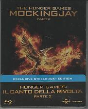 BLU RAY + DVD : HUNGER GAMES IL CANTO DELLA RIVOLTA 2   ED.STEEL BOOK  SIGILLATO